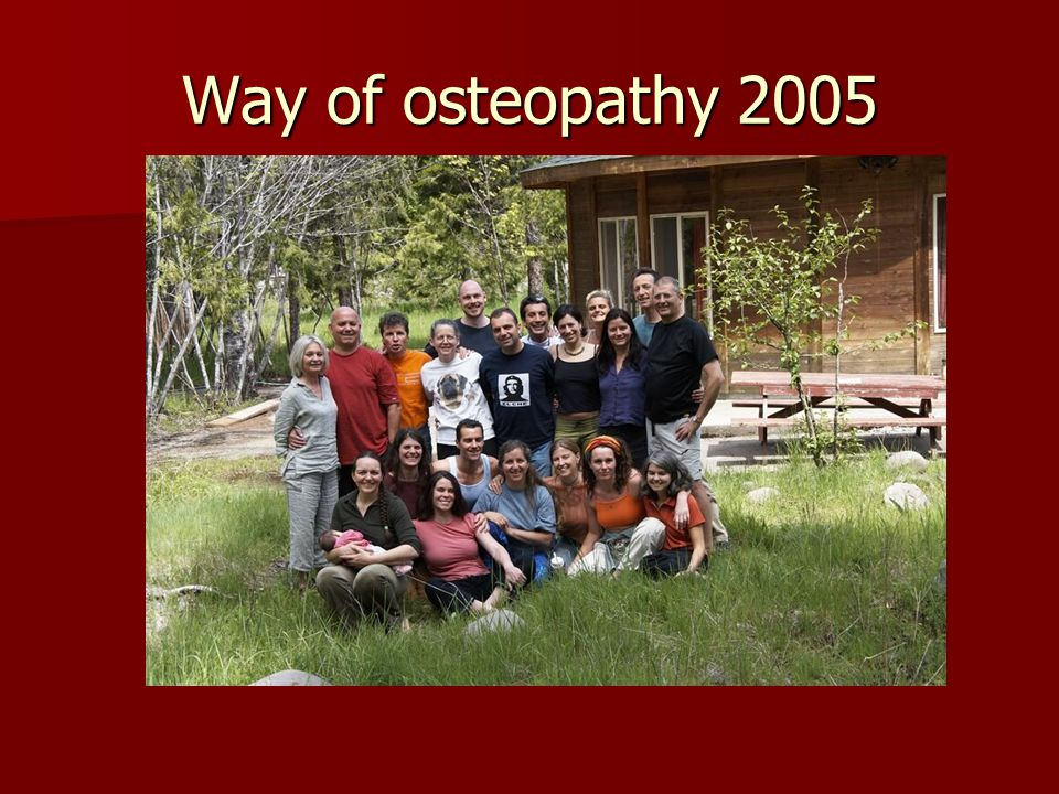 Way of osteopathy 2005