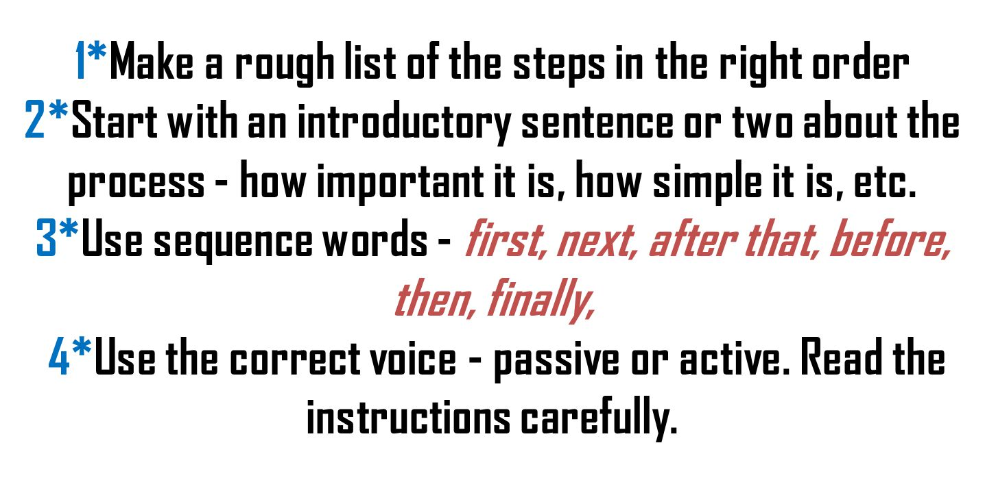 Sequence adverbs are used to describe a series of events in relation with one another and the order in which they occurred or to describe a procedure.