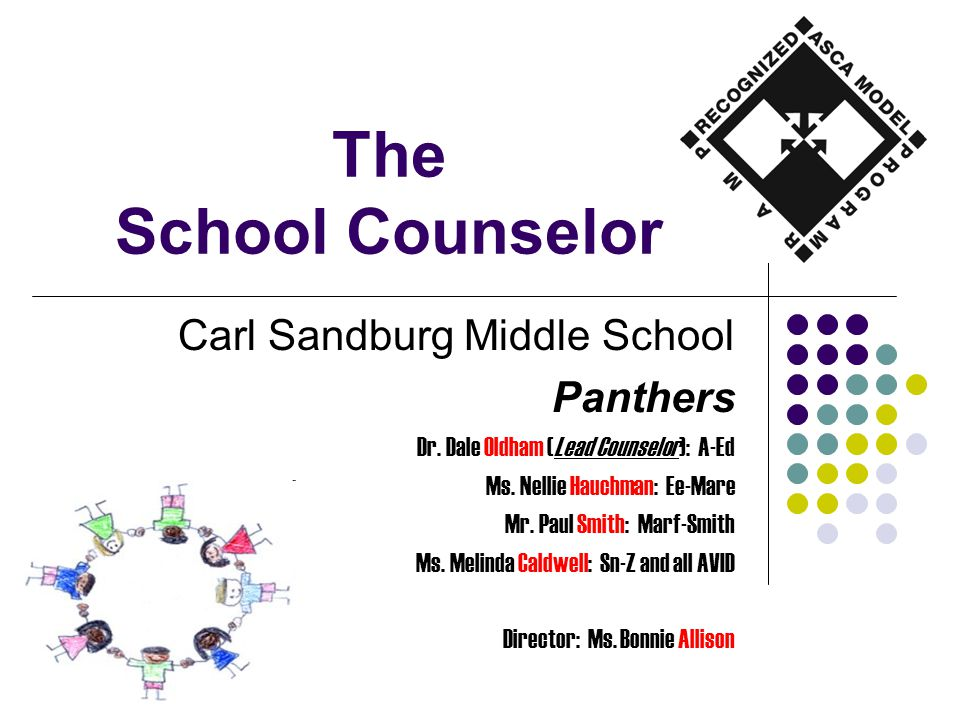 The School Counselor Carl Sandburg Middle School Panthers Dr.