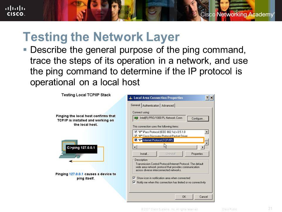 31 © 2007 Cisco Systems, Inc.