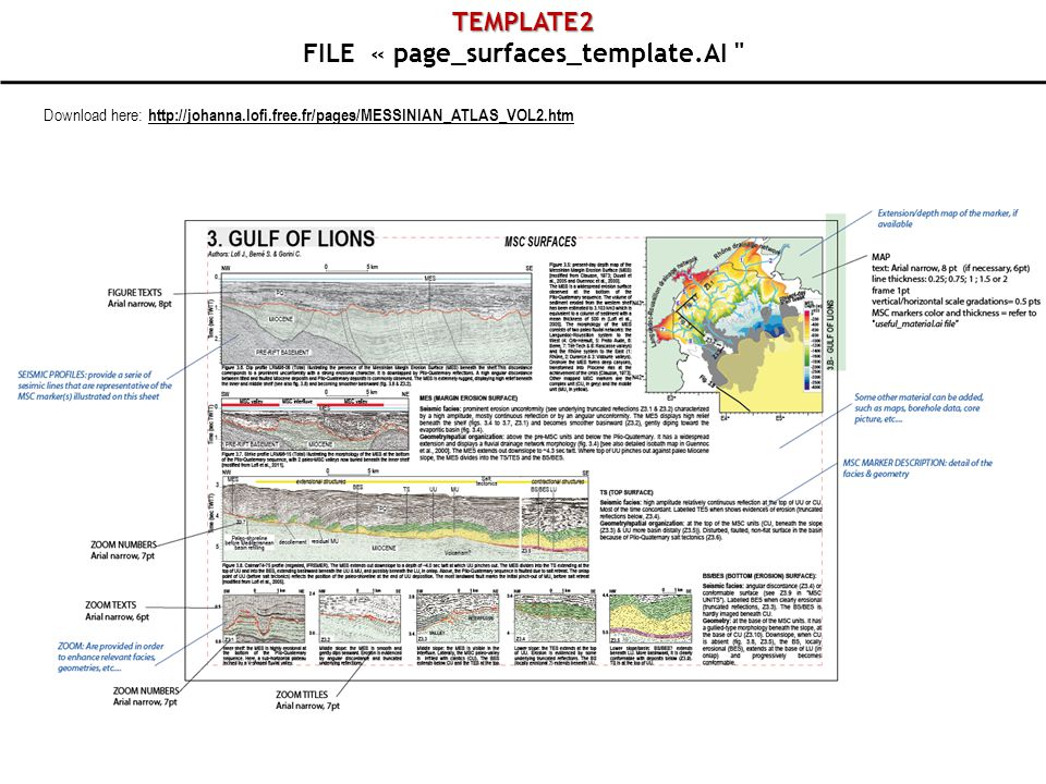 TEMPLATE2 FILE « page_surfaces_template.AI Download here: http://johanna.lofi.free.fr/pages/MESSINIAN_ATLAS_VOL2.htm