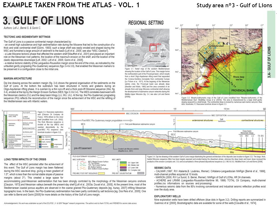 EXAMPLE TAKEN FROM THE ATLAS – VOL. 1 Study area n°3 – Gulf of Lions