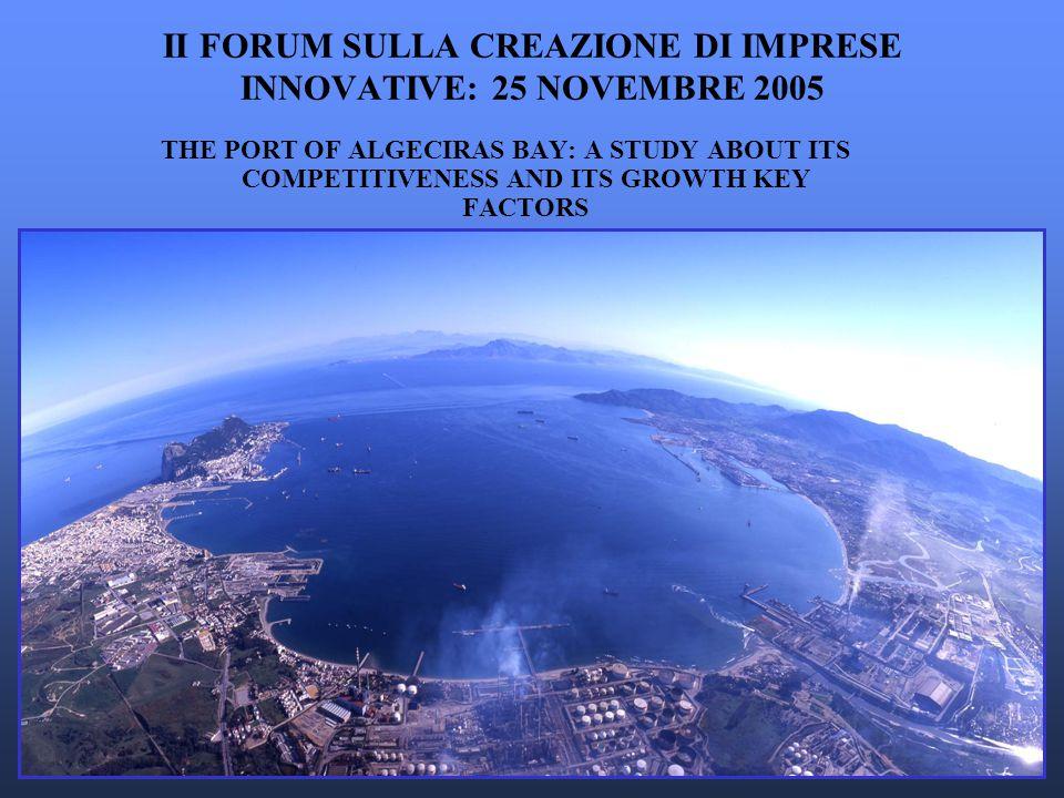 II FORUM SULLA CREAZIONE DI IMPRESE INNOVATIVE: 25 NOVEMBRE 2005 THE PORT OF ALGECIRAS BAY: A STUDY ABOUT ITS COMPETITIVENESS AND ITS GROWTH KEY FACTORS