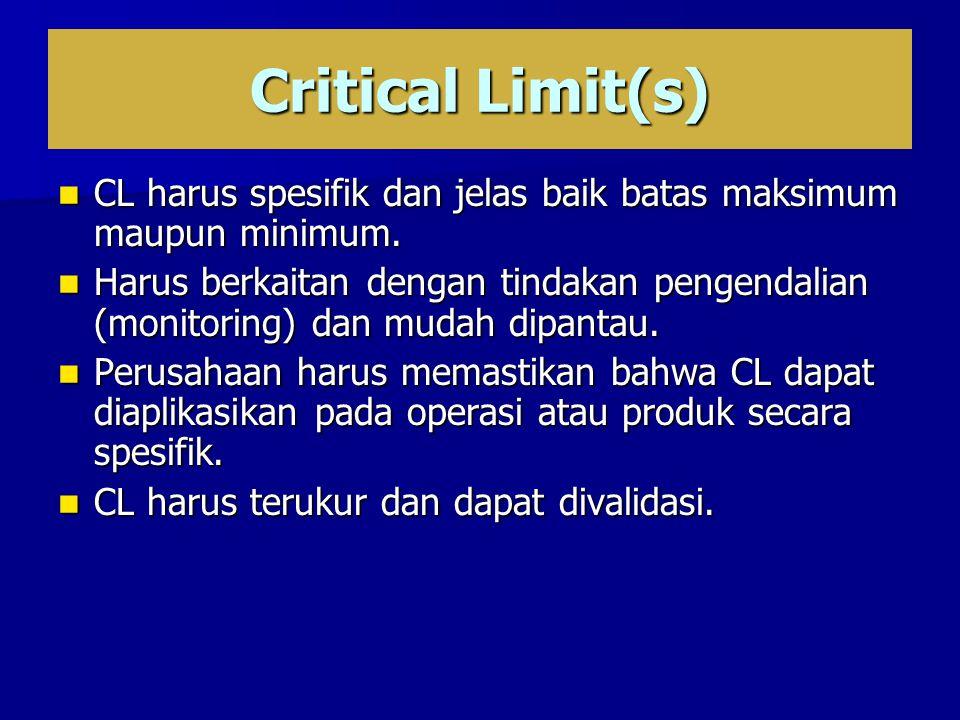 CL harus spesifik dan jelas baik batas maksimum maupun minimum.