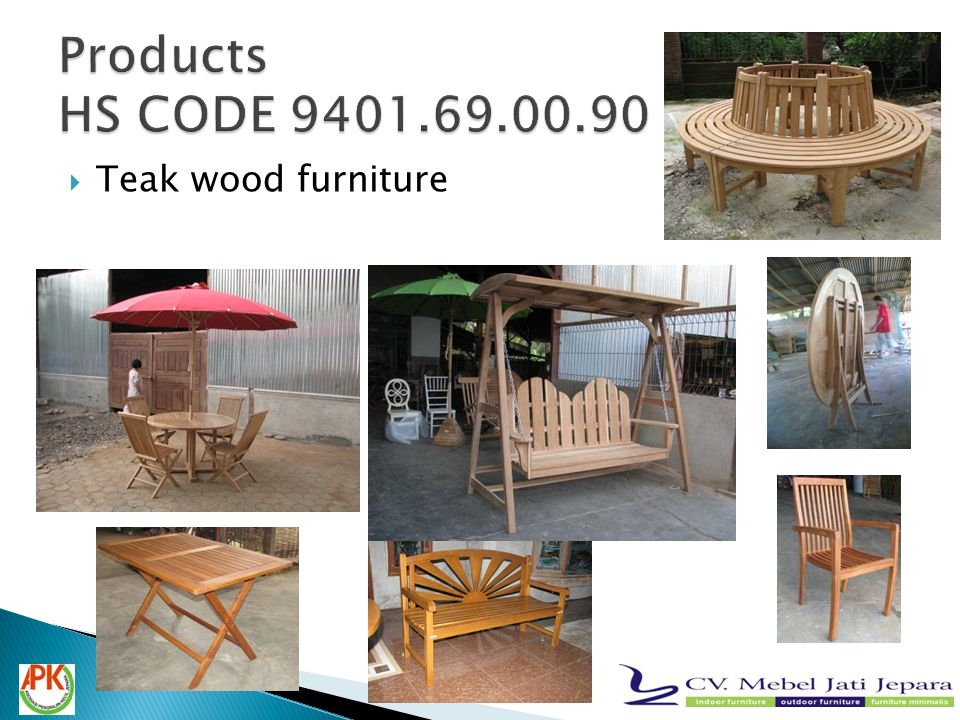  Teak wood furniture