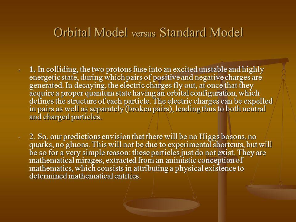 Orbital Model versus Standard Model 1.