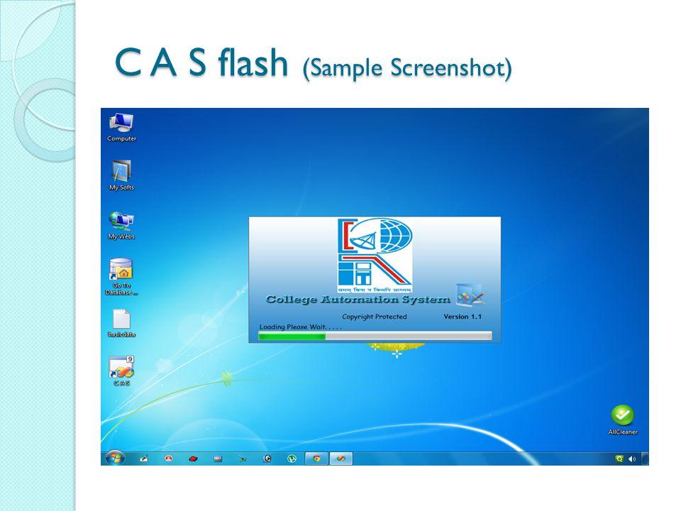 C A S flash (Sample Screenshot)
