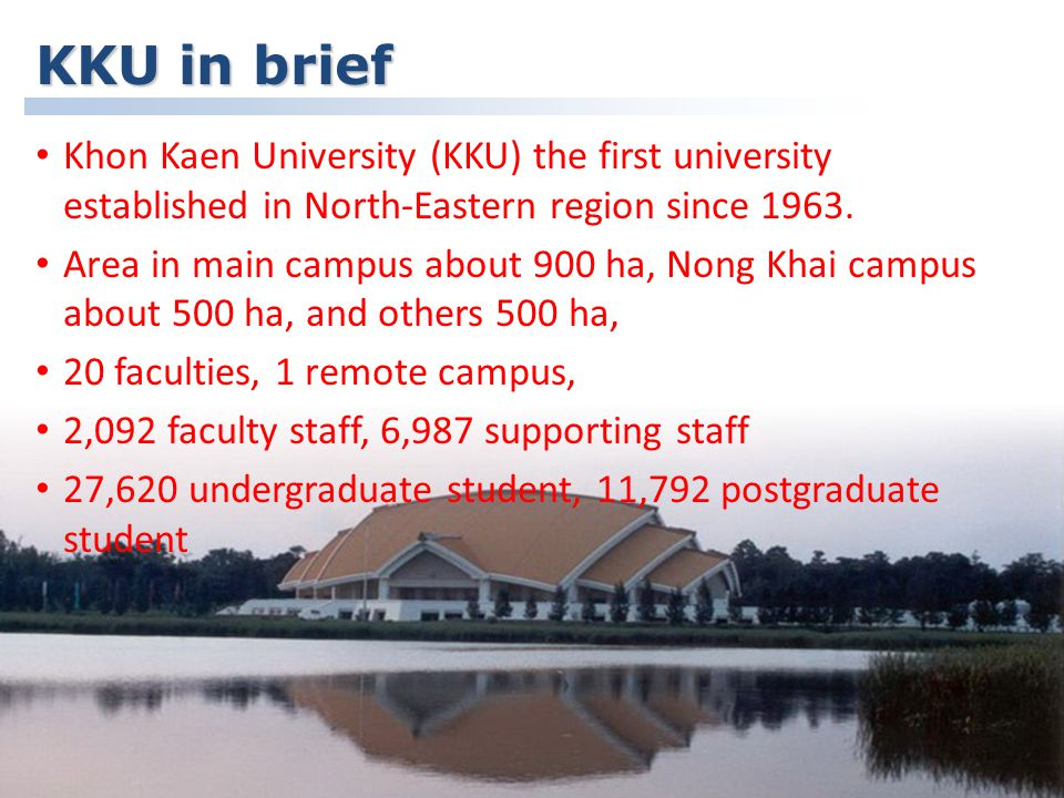 Khon Kaen University, Thailand Project's background In Thailand, Lesson Study was introduced to improve teacher education in 2001, the Faculty of Education, KKU attempted to improve the teacher education program.