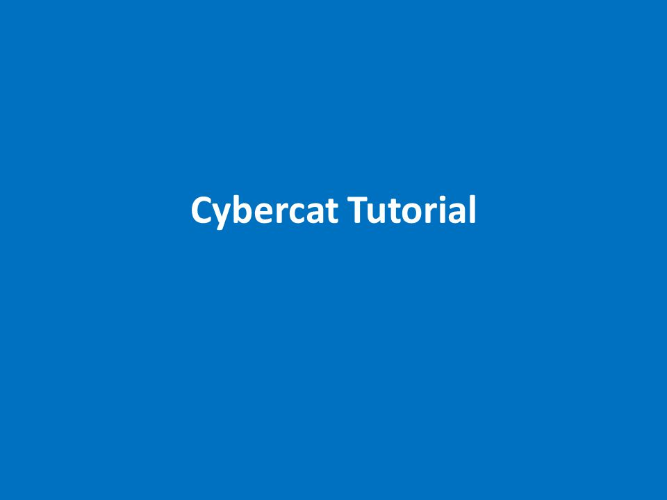 This is the basic search screen in Cybercat.