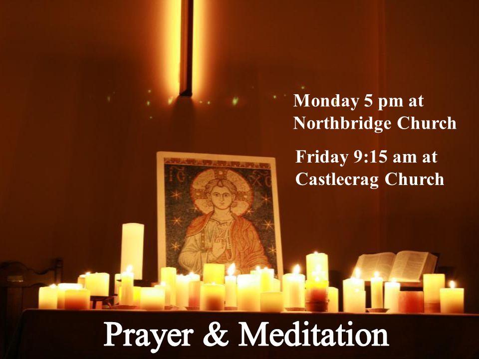 Monday 5 pm at Northbridge Church Friday 9:15 am at Castlecrag Church