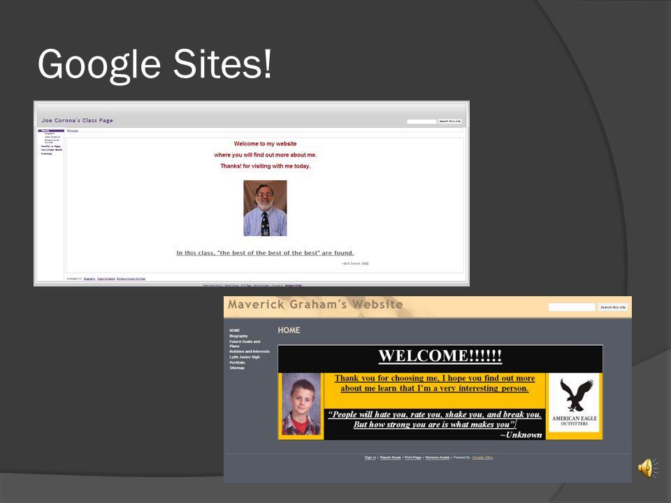 Google Sites!