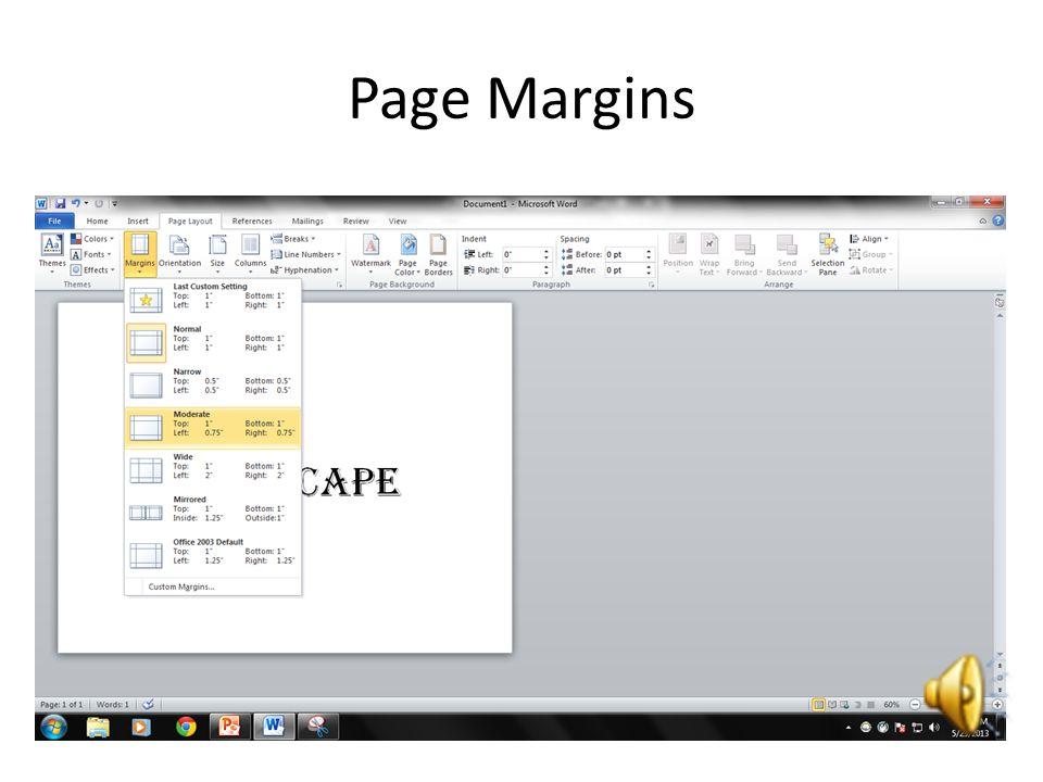Page Margins