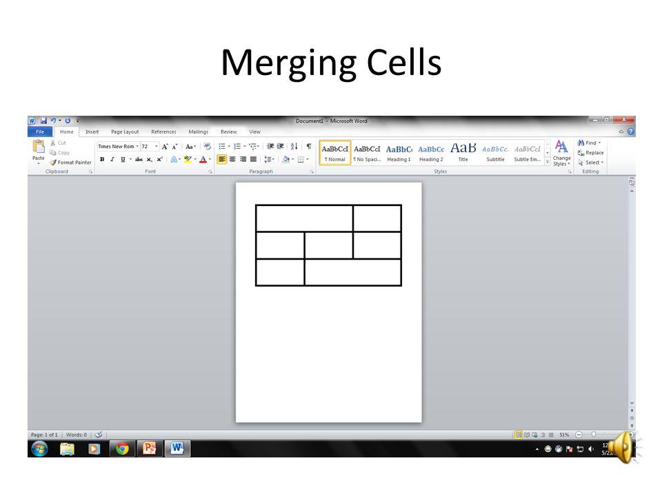 Merging Cells