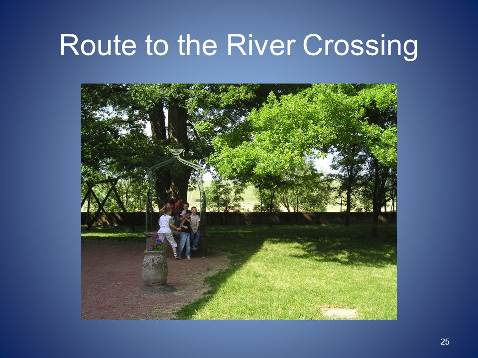 Route to the River Crossing 25