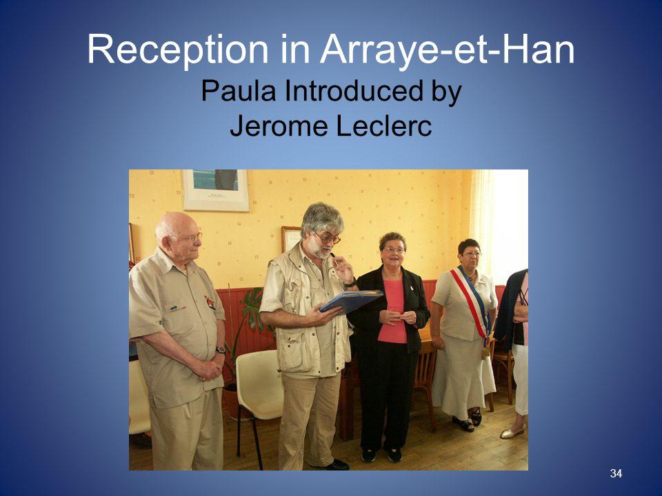 Reception in Arraye-et-Han Paula Introduced by Jerome Leclerc 34