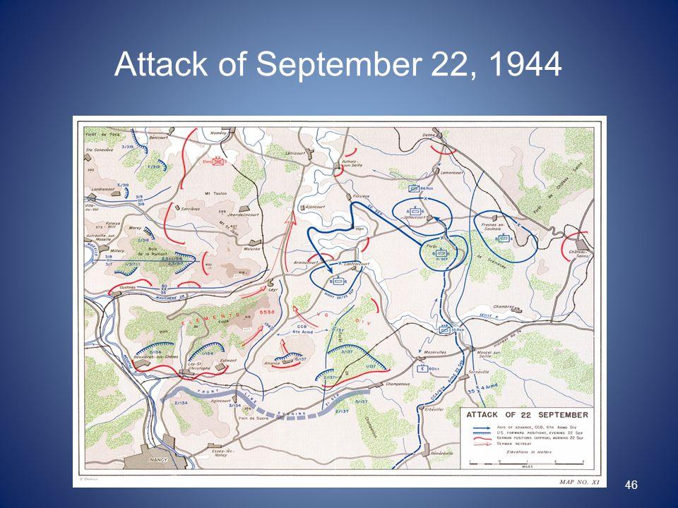Attack of September 22, 1944 46