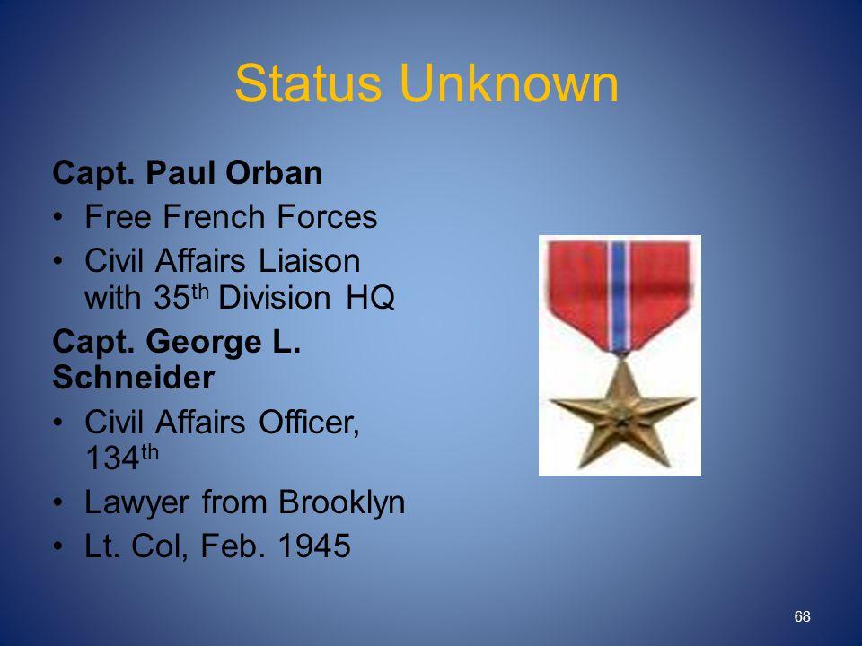 Status Unknown Capt.