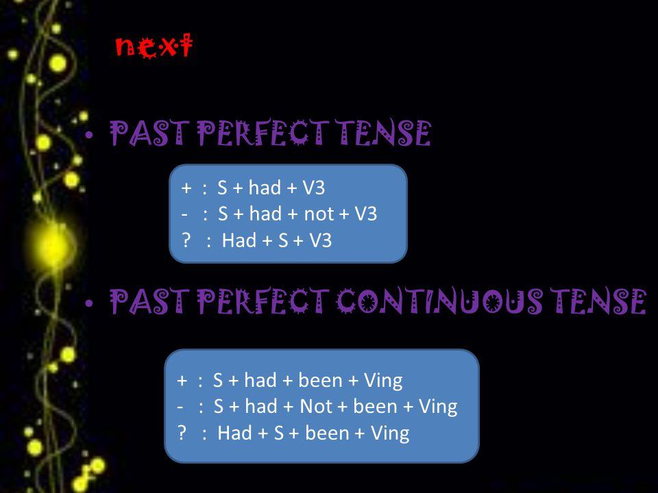 FUTURE ( AKAN DATANG ) FUTURE TENSE FUTURE CONTINOUS TENSE + : S + will + V1 - : S + will + not + V1 .