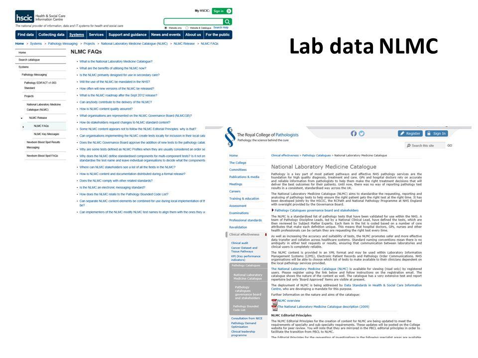 Lab data NLMC