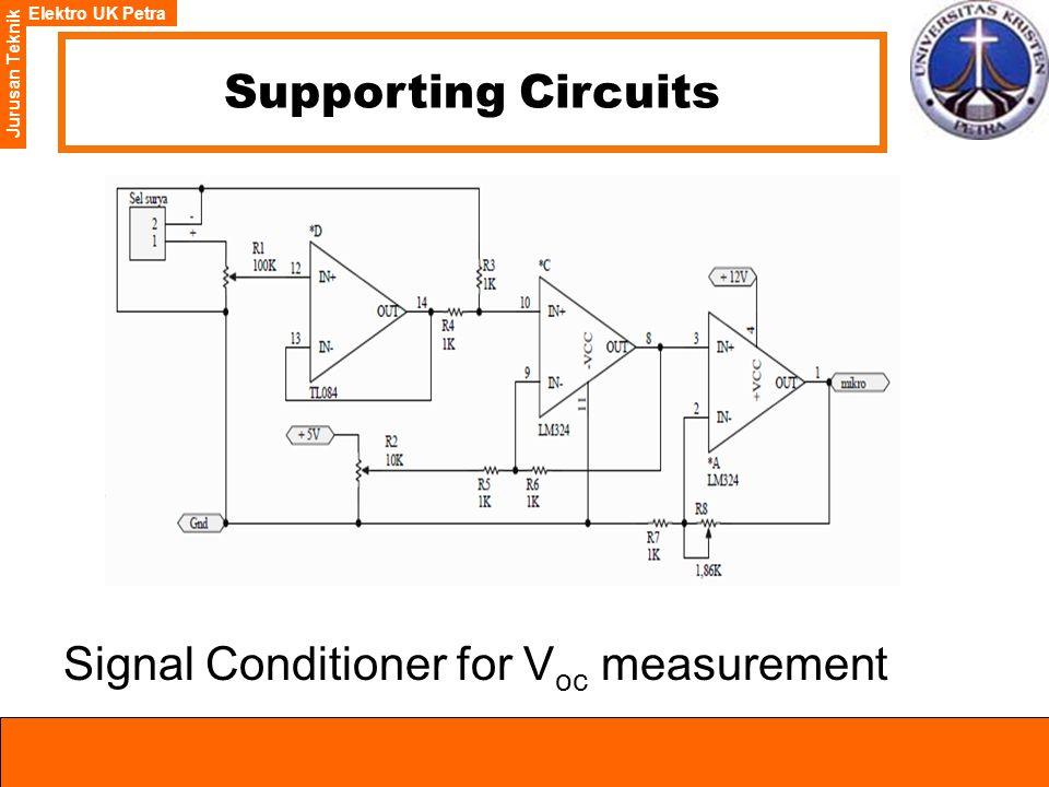 Elektro UK Petra Jurusan Teknik Supporting Circuits Signal Conditioner for V oc measurement