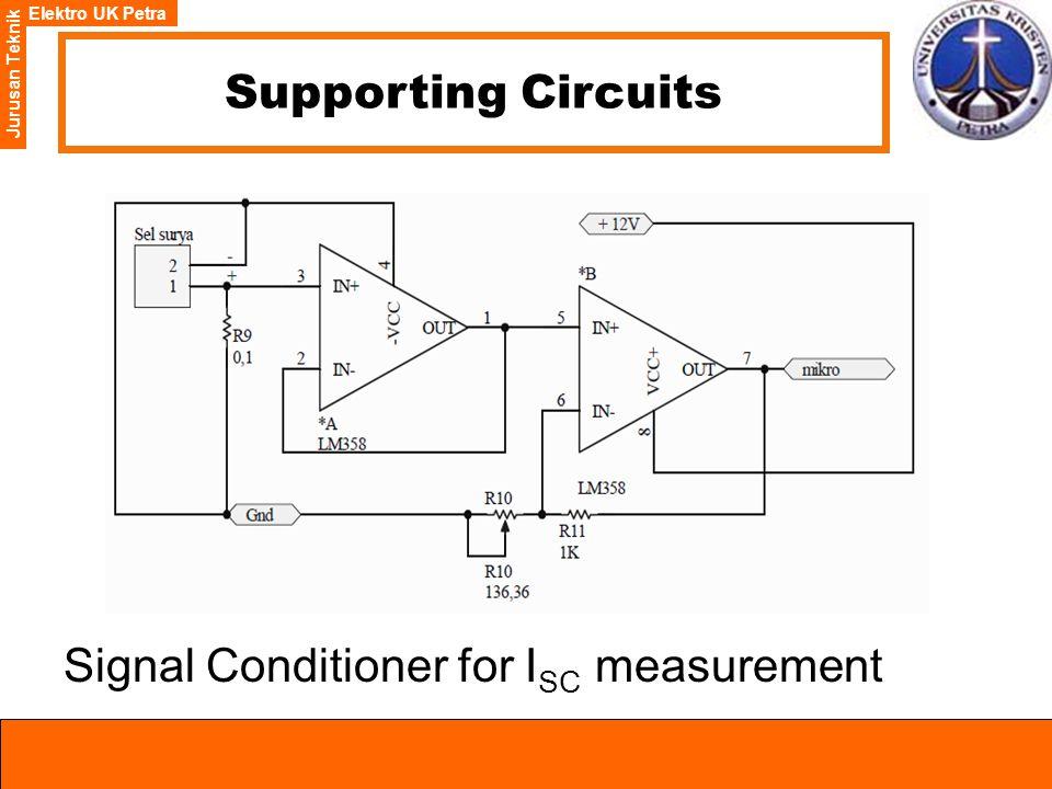 Elektro UK Petra Jurusan Teknik Supporting Circuits Signal Conditioner for I SC measurement