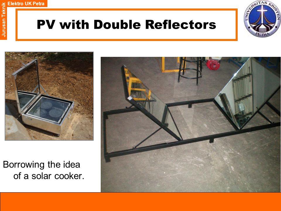 Elektro UK Petra Jurusan Teknik PV with Double Reflectors Borrowing the idea of a solar cooker.