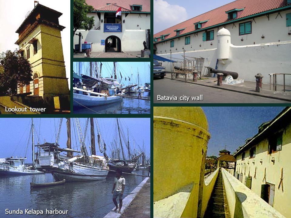 Batavia city wall Sunda Kelapa harbour Lookout tower