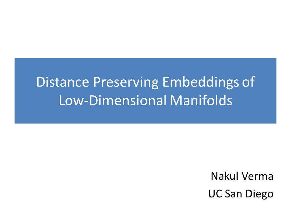 Study Manifold Embeddings Formally Let's fix a desirable property: preserving geodesic distances.