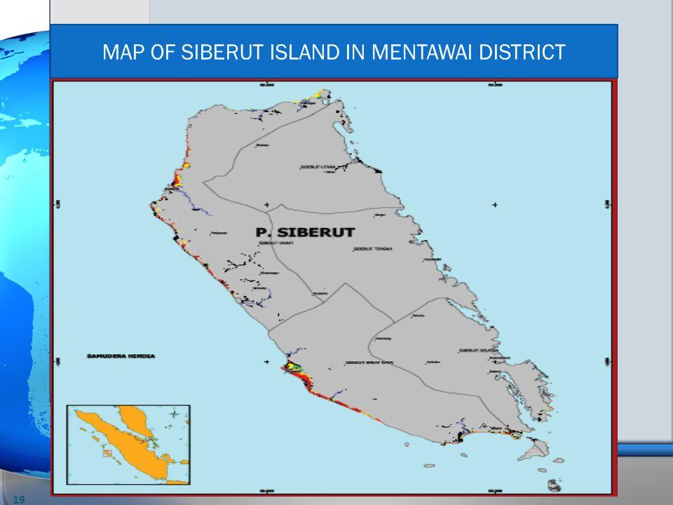 MAP OF SIBERUT ISLAND IN MENTAWAI DISTRICT 19