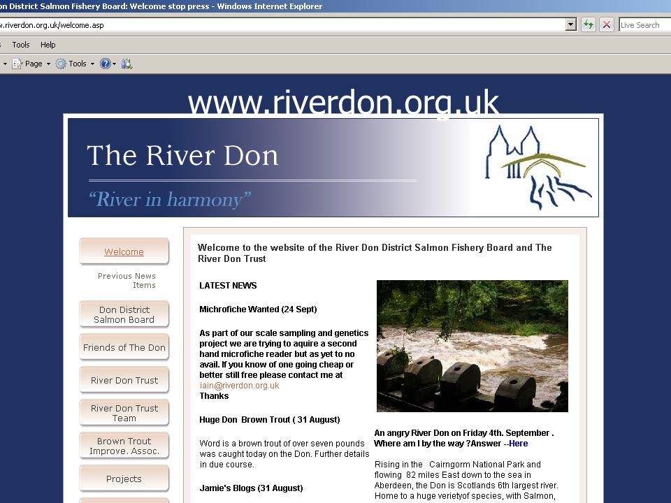 Our website www.riverdon.org.uk