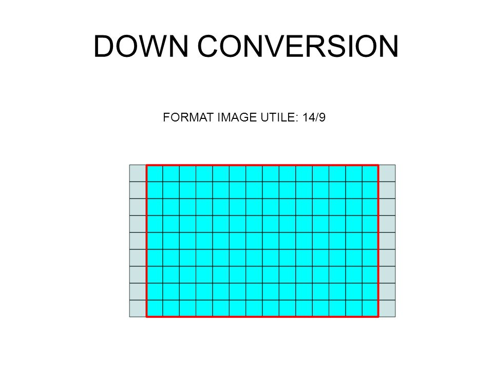 DOWN CONVERSION FORMAT IMAGE UTILE: 14/9