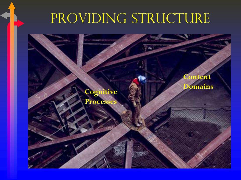 Providing Structure Content Domains Cognitive Processes
