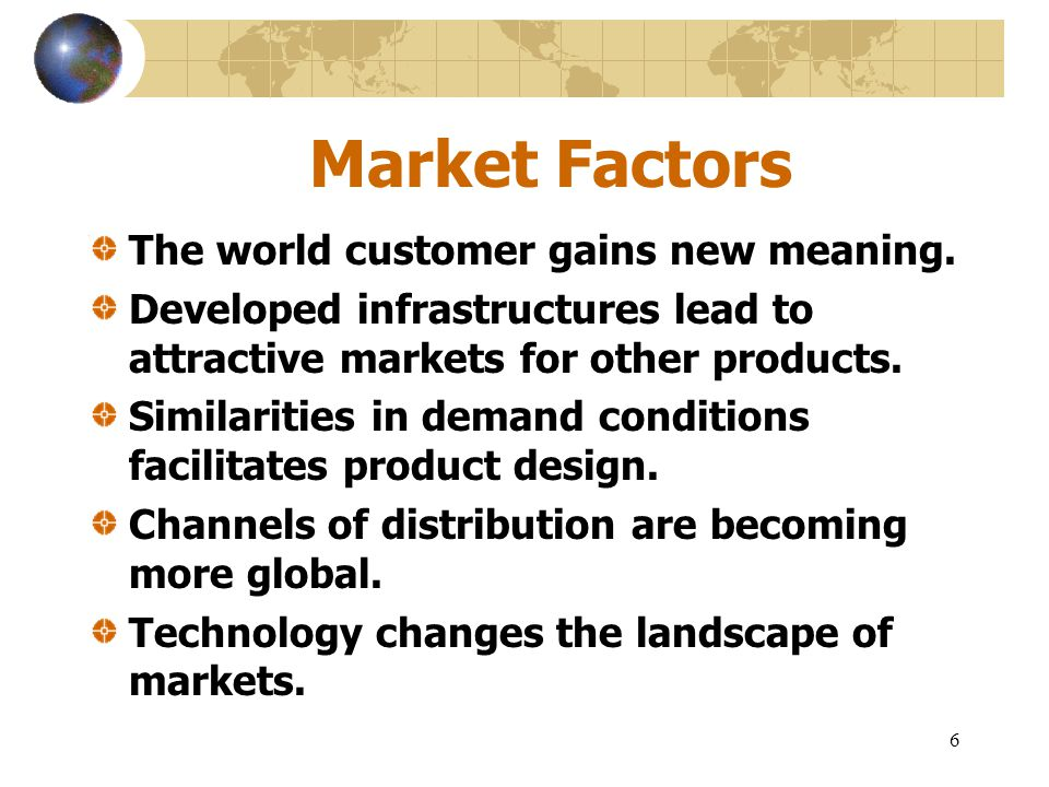 7 Cost Factors Two powerful cost-related globalization drivers.