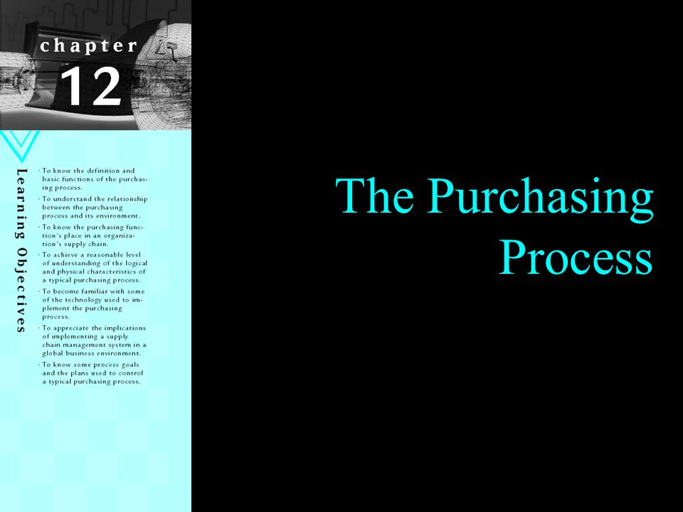 12 Internal Perspective of Purchasing Process 8.