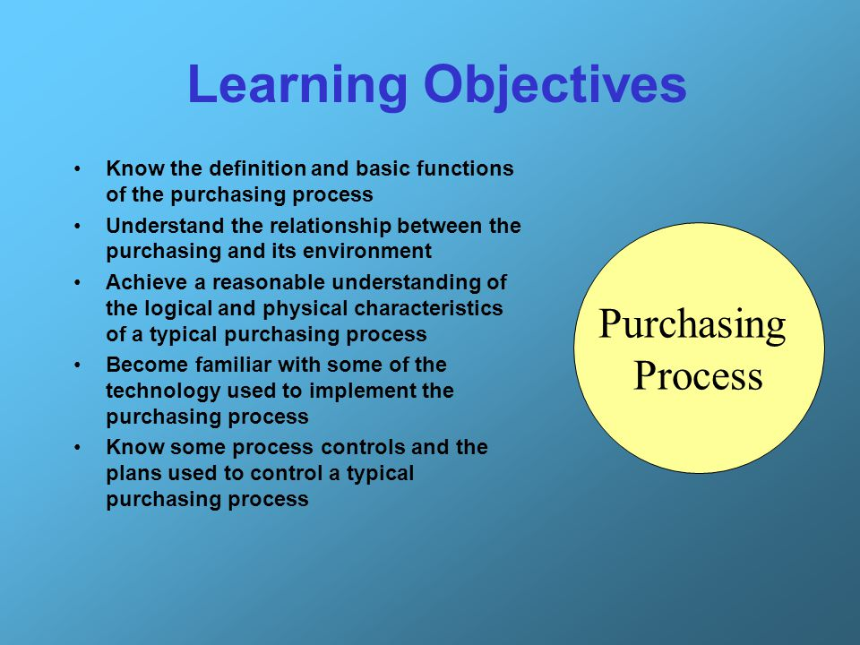 13 Internal Perspective of Purchasing Process 9.