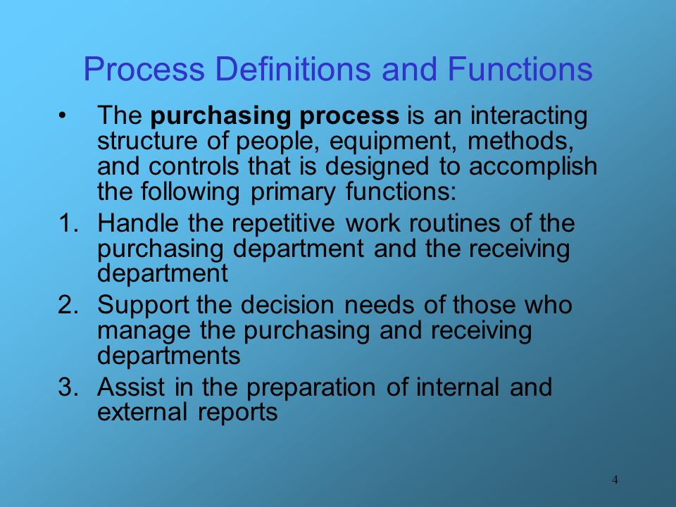 5 Internal Perspective of Purchasing Process 1.