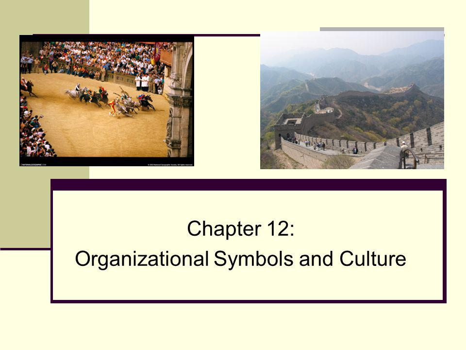Symbolic Frame Core Assumptions Organizational Symbols Geert Hofstede, Culture's Consequences in Work-Related Values Organizations as Cultures