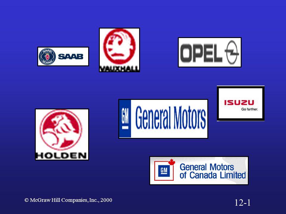 © McGraw Hill Companies, Inc., 2000 12-1