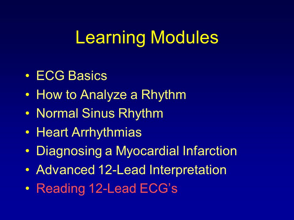Reading 12-Lead ECGs The 12-Lead ECG contains information that will assist you in making diagnostic and treatment decisions in your clinical practice.