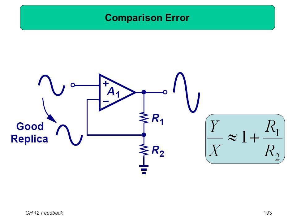 CH 12 Feedback193 Comparison Error