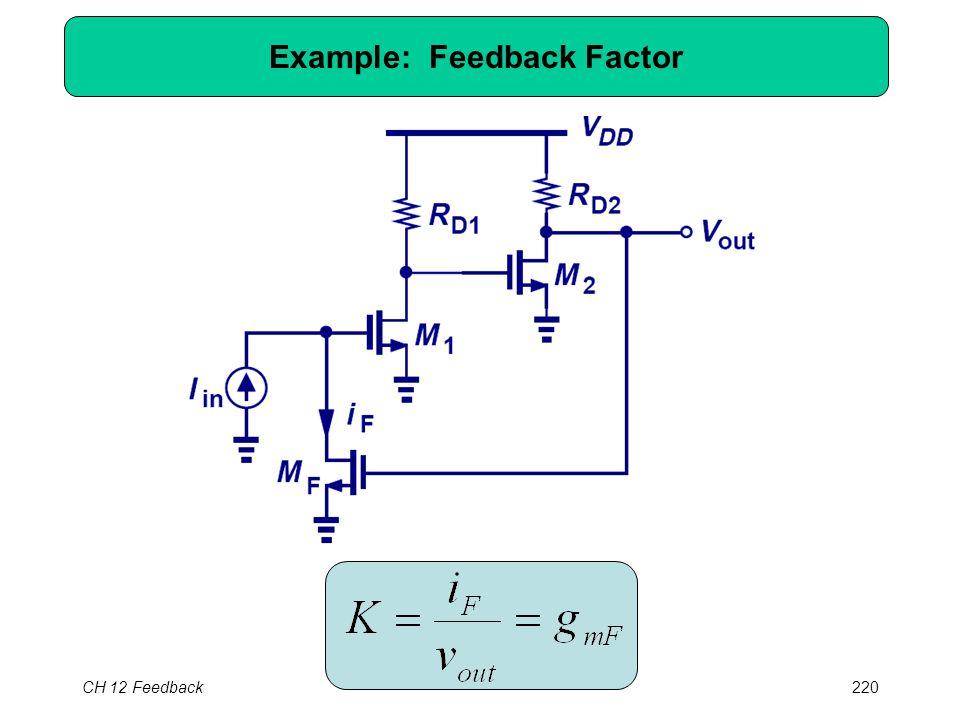 CH 12 Feedback220 Example: Feedback Factor