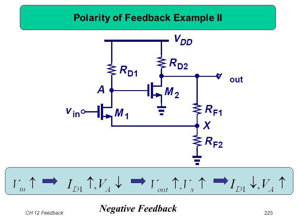 CH 12 Feedback225 Polarity of Feedback Example II Negative Feedback