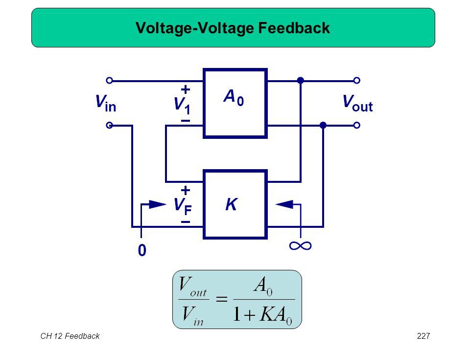 CH 12 Feedback227 Voltage-Voltage Feedback
