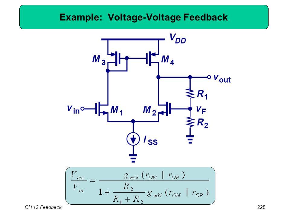 CH 12 Feedback228 Example: Voltage-Voltage Feedback