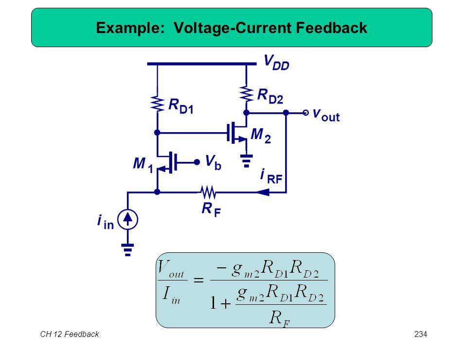 CH 12 Feedback234 Example: Voltage-Current Feedback
