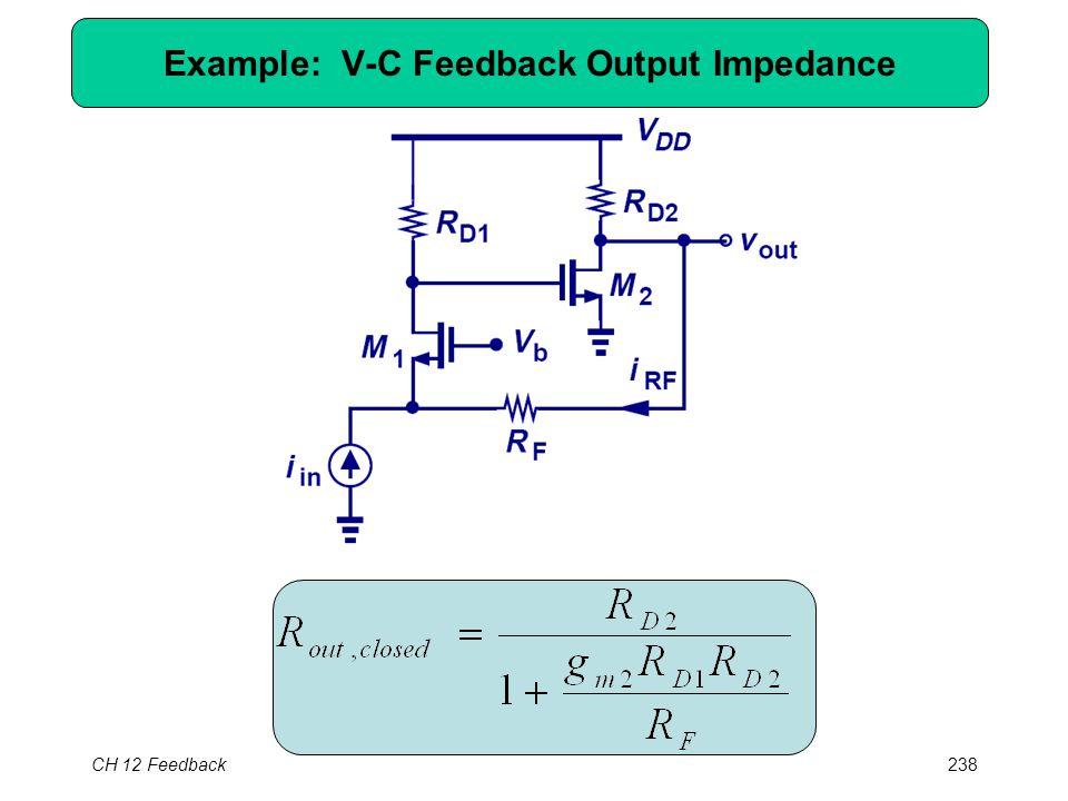 CH 12 Feedback238 Example: V-C Feedback Output Impedance