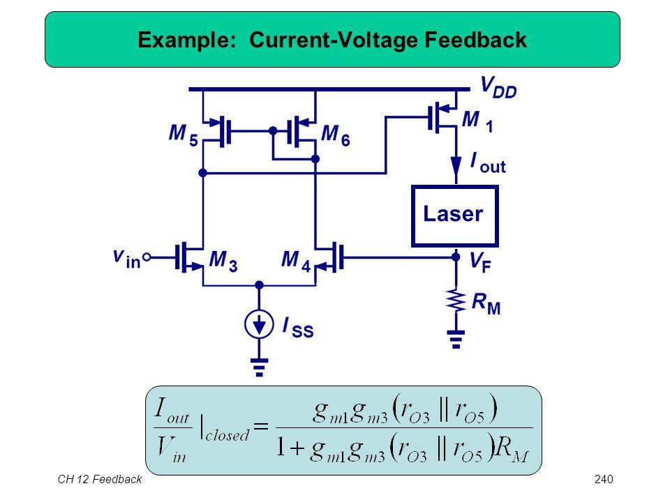 CH 12 Feedback240 Example: Current-Voltage Feedback Laser