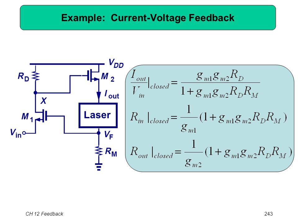 CH 12 Feedback243 Laser Example: Current-Voltage Feedback