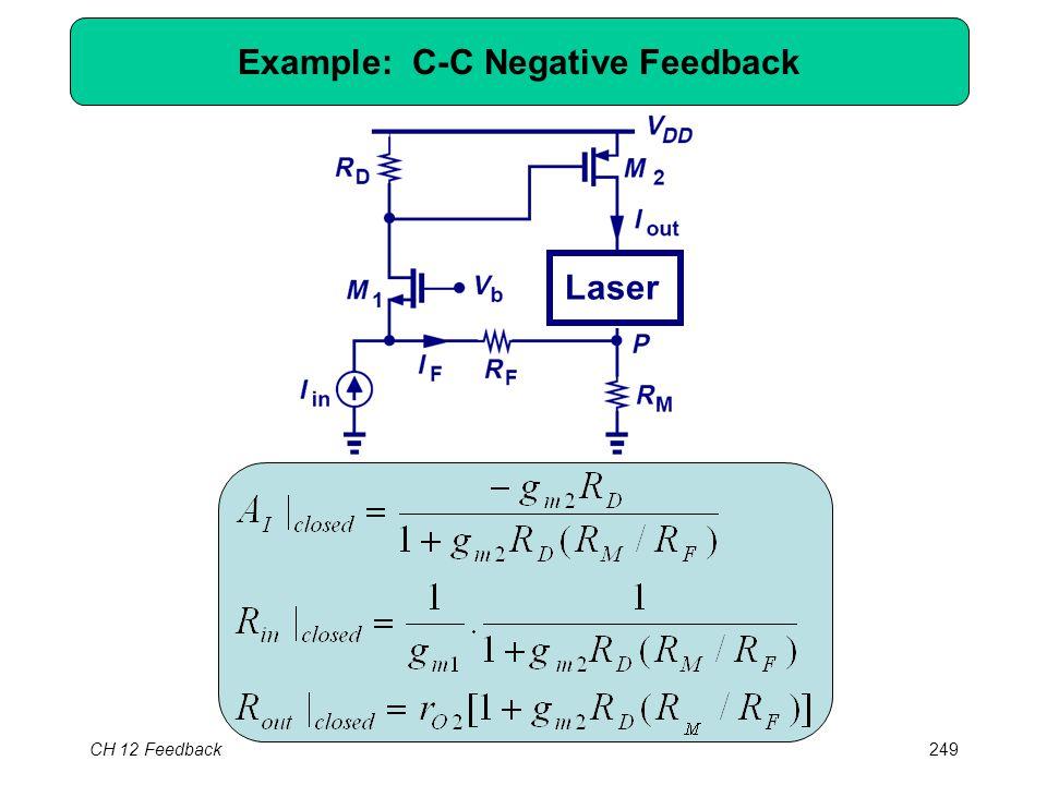 CH 12 Feedback249 Example: C-C Negative Feedback Laser
