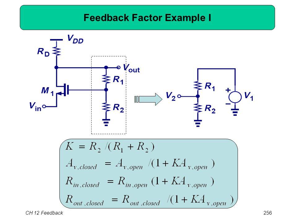 CH 12 Feedback256 Feedback Factor Example I